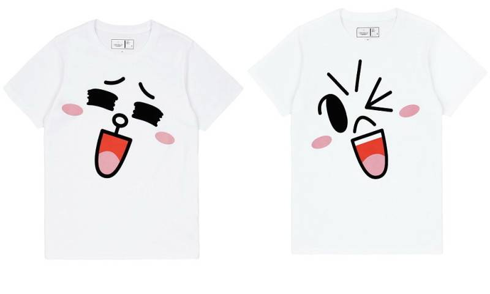 :CHOCOOLATE    LINE FRIENDS 大頭圖案T恤$259(男/女裝) $199(童裝)