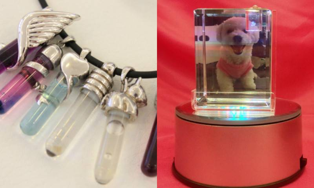 以生物技術把寵物的DNA保留,經過低溫凝結和離心機處理後,製作成肉眼可見的DNA晶體,可放入鏈咀製成紀念首飾。提取DNA的方法十分簡單,只雖從寵物口腔內壁輕刮。 最終有你