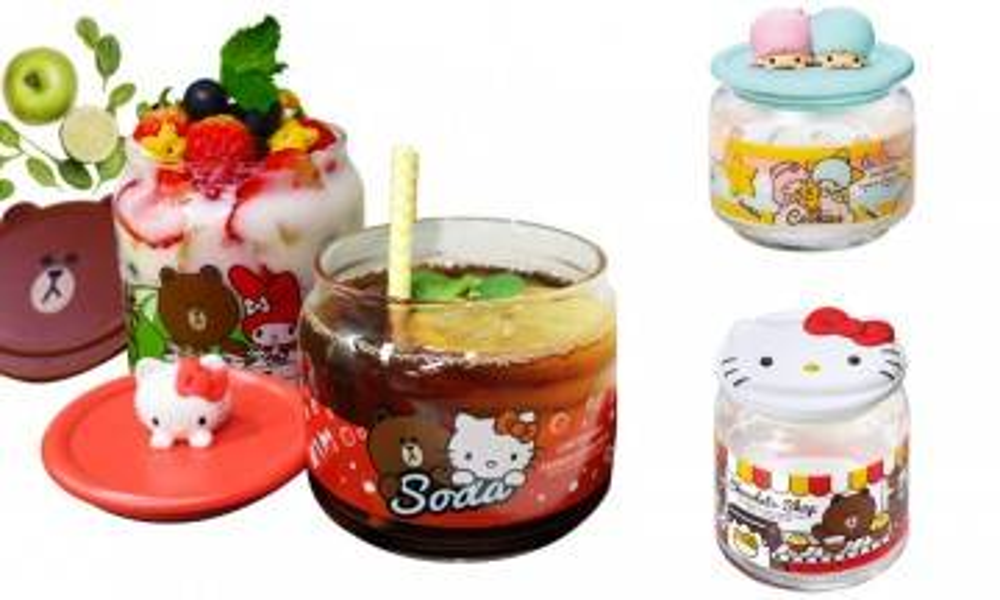 儲印花是時候! 7-Eleven新推Line Sanrio角色玻璃樽 Hello Kitty、Brown熊大出沒