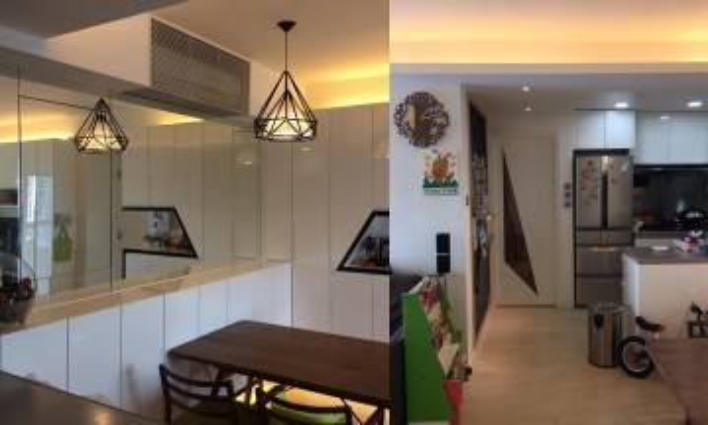 500呎裝修連傢俬$38萬 大鏡+半開放式廚房擴大1倍空間感