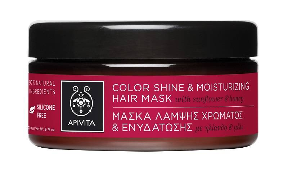 Apivita Color Shine & Moisturizing Hair MaskFor Colored Hair $320/200ml/c