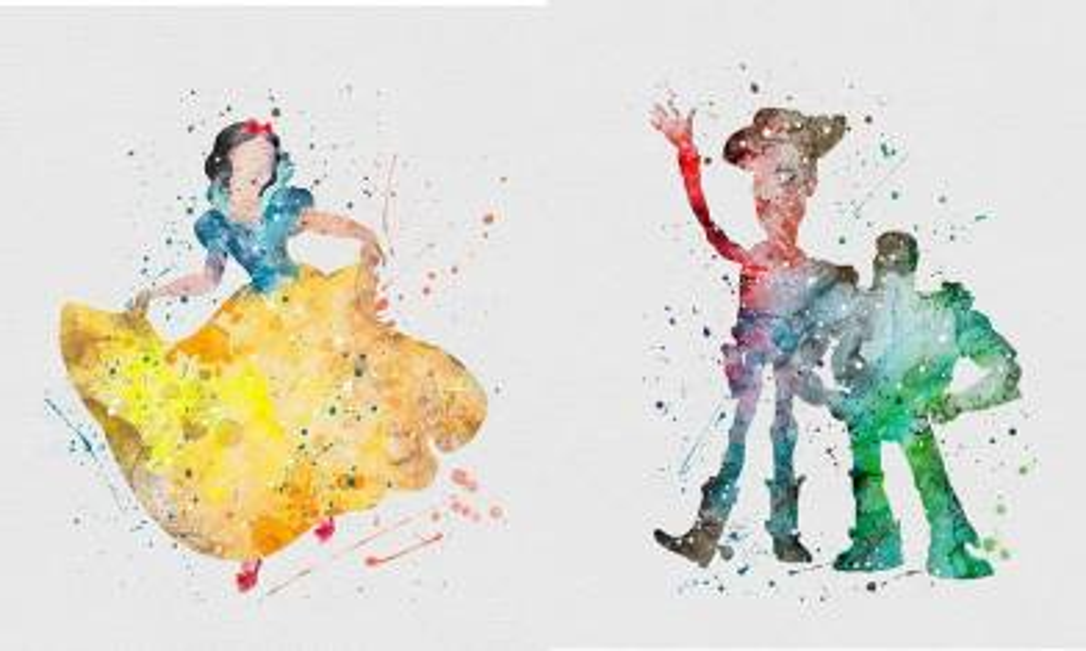 Disney夢幻水彩桌布 12款任選公主系列最吸睛
