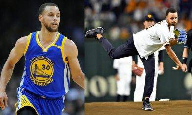 Stephen Curry 天生神手 連棒球都玩得咁掂!?