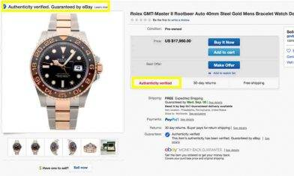 Ebay x TrueFacet聯手推名錶正品認可標籤 Rolex、Bretiling、 Panerai都有份!