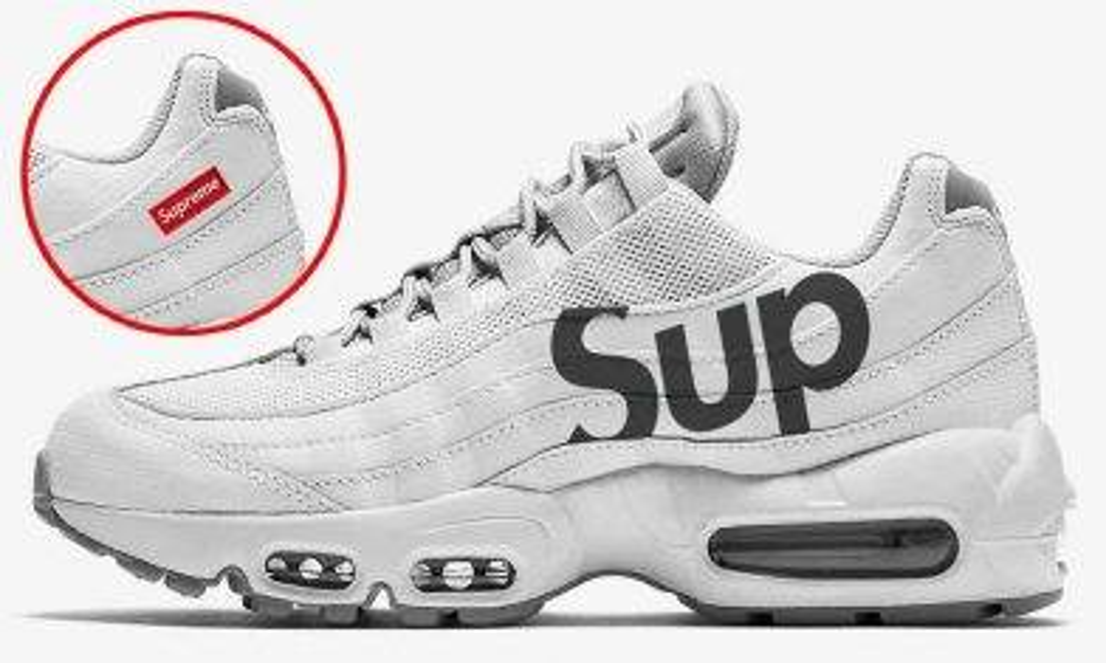 Supreme x Nike Air Max 95 諜照流岀!?全白配色加Logo!