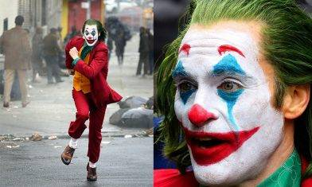 DC《小丑》獨立電影片場劇照再曝光  《HER》男主角化誇張小丑妝於街頭狂奔