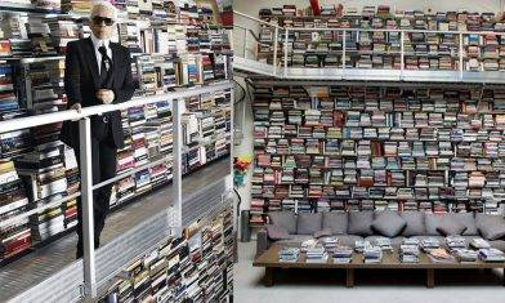 【新蚊娛樂】老佛爺Karl Lagerfeld豪宅堆滿30萬本珍藏書 同圖書館冇分別!