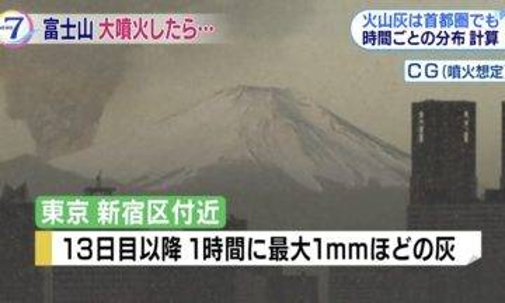 日政府先行預測:富士山爆發波及範圍! 東京陸空交通癱瘓、市內大規模停電