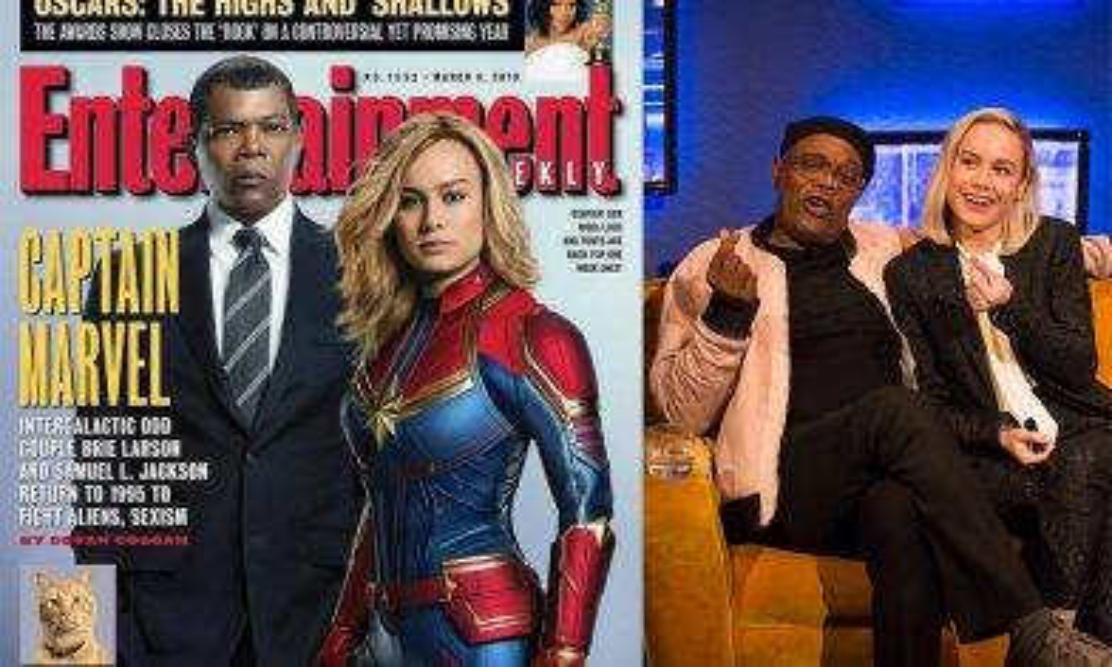 《Marvel隊長》2主角上Talk Show宣傳Captain Marvel!  費局長劇透《復仇4》少個人?|新蚊娛樂|