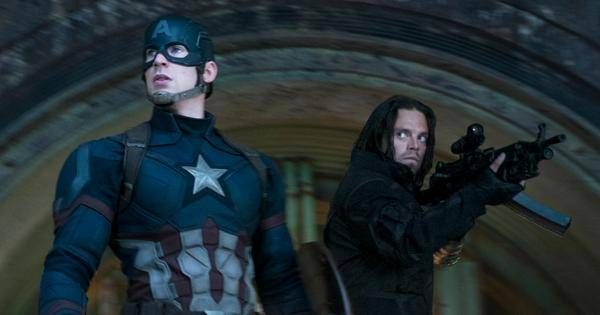 Marvel's Captain America: Civil War  L to R: Captain America/Steve Rogers (Chris Evans) and Winter Soldier/Bucky Barnes (Sebastian Stan)  Ph: Zade Rosenthal   ©Marvel 2016