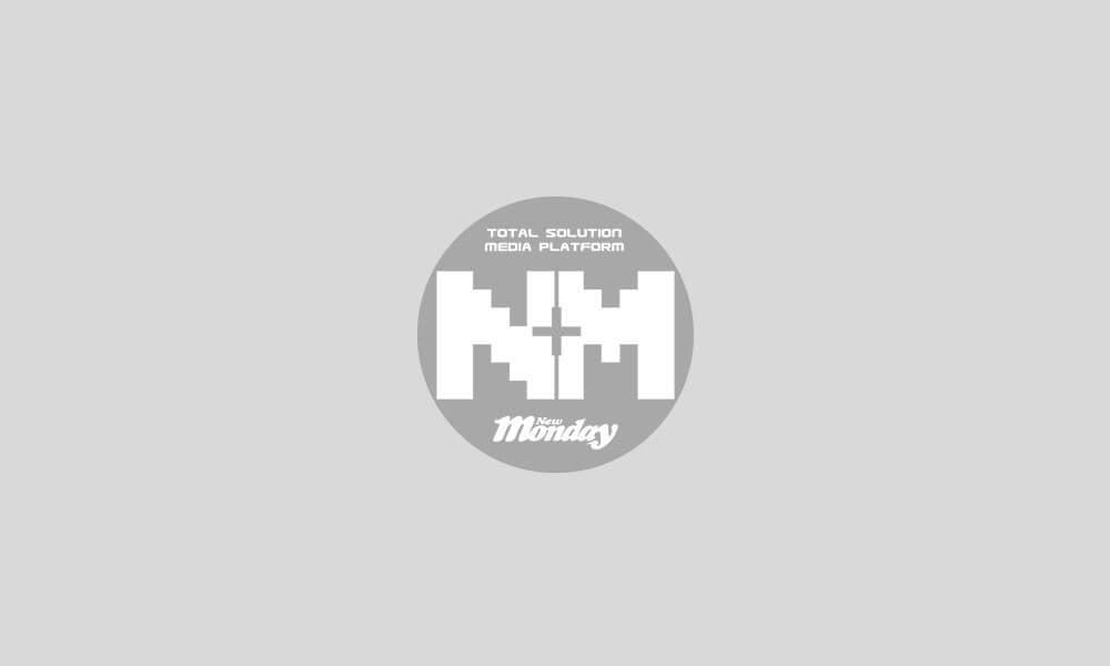 著上大紅裙嘅Irene,在兩大男主角黄維德及劉向京護送下出場。