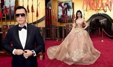 《花木蘭》(Mulan)群星現身美國首映 有位女星澈似動畫版花木蘭? 食住花生等睇戲