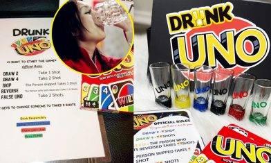 UNO推飲酒版「Drunk UNO」!啱哂成班酒鬼朋友│買了球鞋再買玩具