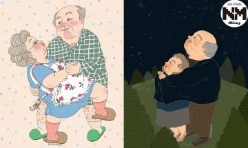韓國IG插畫家「老夫老妻愛情插畫」傳授幸福經營之道   網友:白頭到老是最幸福的事!