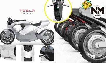 Tesla推出真正「電單車」?概念電單車Model M  超科幻感勁過阿基拉