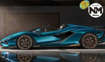 Lamborghini史上最強開篷車!800匹馬力再強化  藍色閃電Lamborghini Sian Roadster