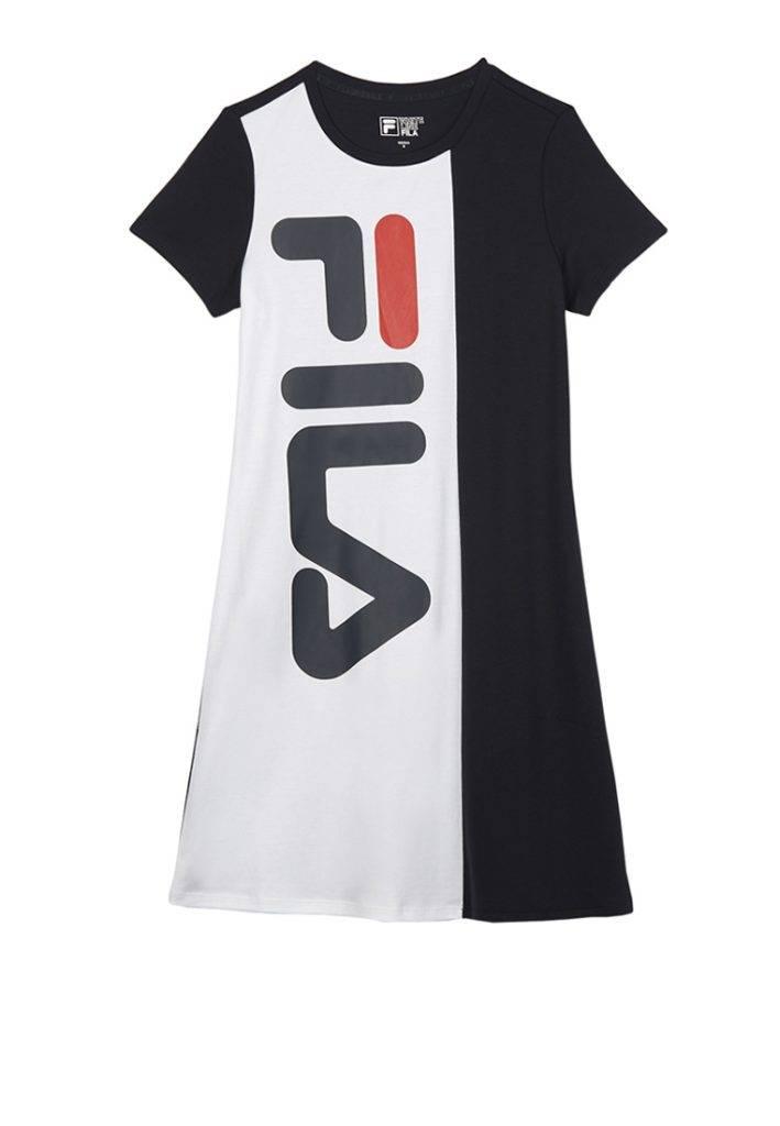 FILA Logo拼色連接裙