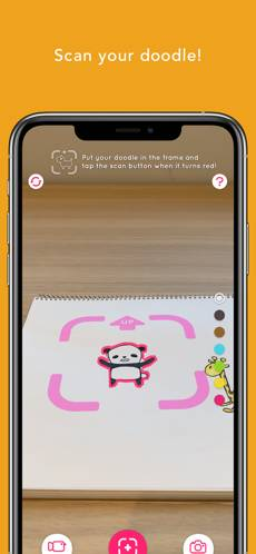 RakugakiAR超好玩手機App!教你3秒將平面公仔活過來 附RakugakiAR塗鴉小貼士