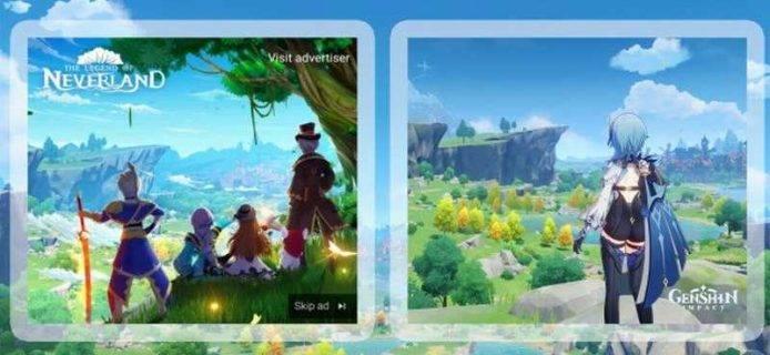 左為《夢幻島傳說》,右為《原神》。(圖片來源:遊戲截圖)