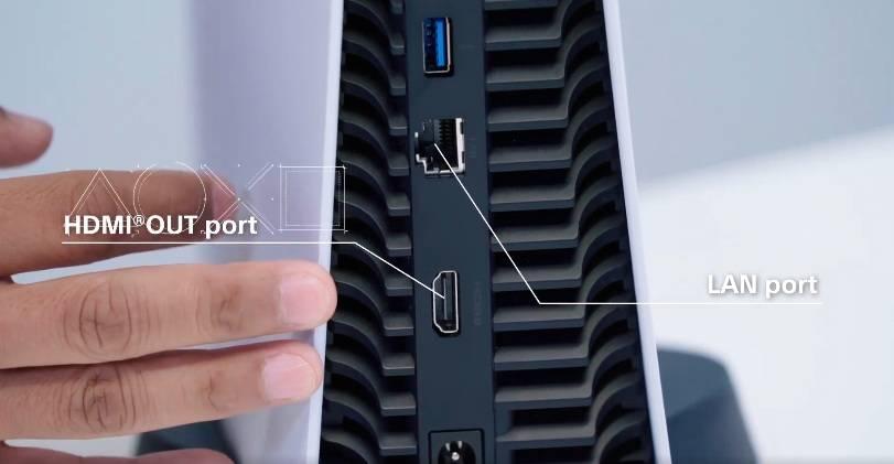 Lan連接埠、HDMI連接埠以及電源連接埠