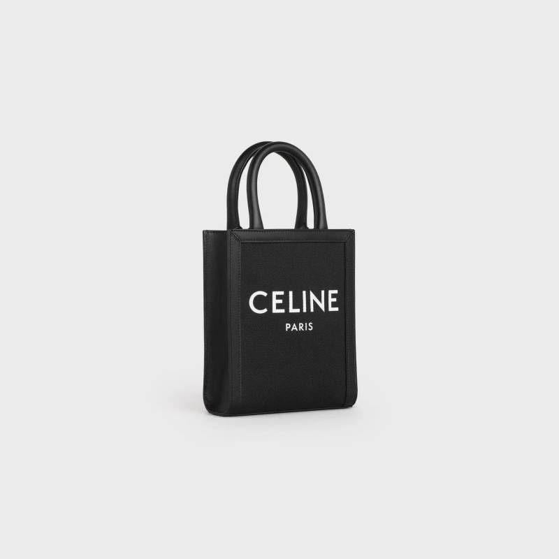 MINI VERTICAL CABAS CELINE IN TEXTILE WITH CELINE PRINT AND CALFSKIN   HKD 10,500