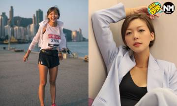 洪永城女友梁諾妍主持新節目《五星級絲打II》 清爽短髮配密實西裝開工