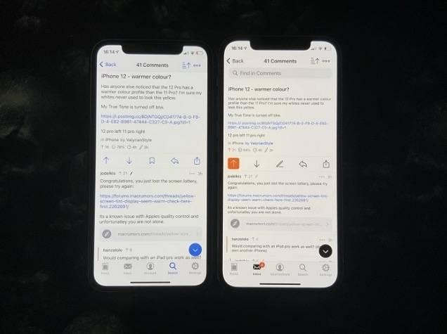iPhone 12出現黃mon情況