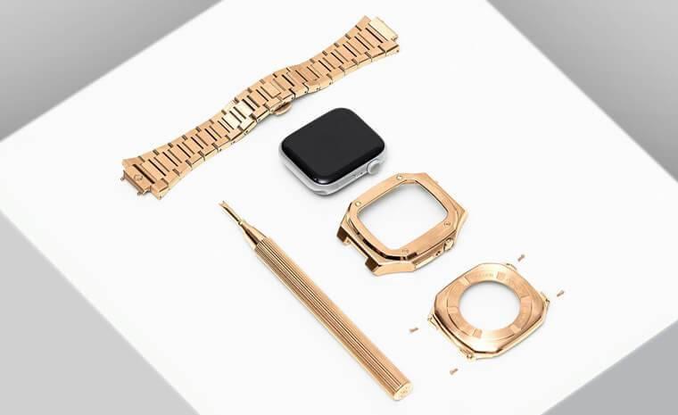 錶殼物料主要採用不鏽鋼,如玫瑰金PVD、黑色PVD