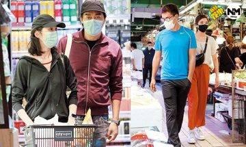 陳展鵬、劉青雲陪妻買餸大不同 一個體貼老婆一個雙手插袋