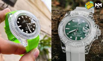 Rolex改裝錶款 勞力士Submariner變成透明Swatch