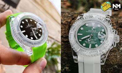 Rolex改裝錶款 勞力士Submariner變透明 錶友評似足Swatch