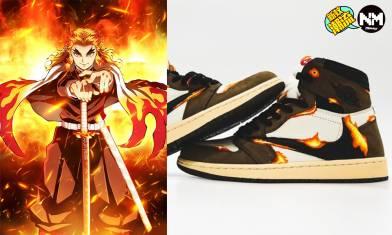 《鬼滅之刃》特別版波鞋?! 客製「炎柱」Travis Scott x Air Jordan 1震驚波鞋畀