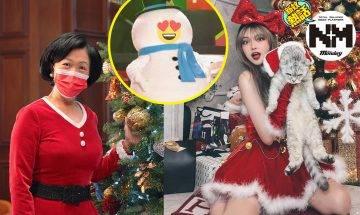 【聖誕節】咁著都得?名人紅星聖誕裝  網民:有美腿先係葉太!
