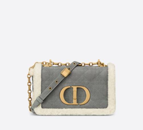Gray Cannage Shearling  Small Dior Caro ,000(圖片來源:Dior)