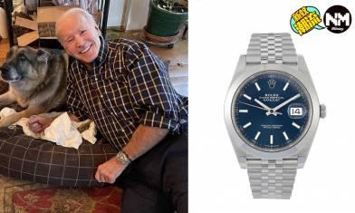 拜登戴Rolex勞力士手錶Datejust 網民笑指:拜登變拜金
