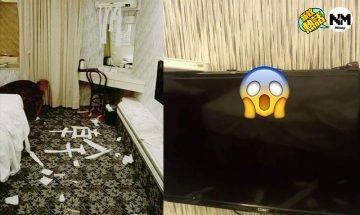 酒店房務員遇上無品客 用過的保險套掛電視上