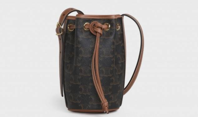 Micro Drawstring in Triomphe Canvas and Calfskin ,900