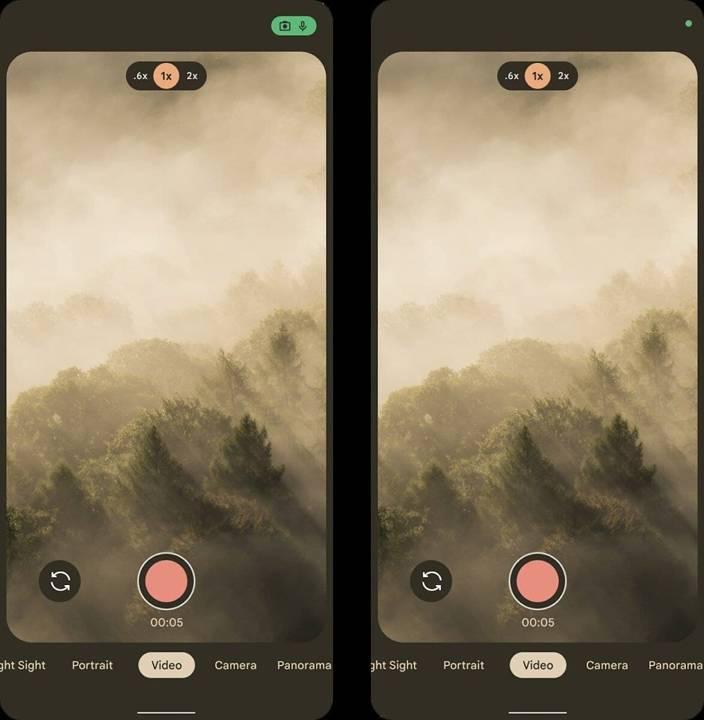 【Android 12】拍攝界面亦同時更新。