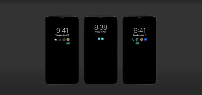 iPhone 13即使在螢幕鎖定的情況下,當有通知時,就會亮起部份螢幕顯示圖標通知,而非現時亮起整個螢幕
