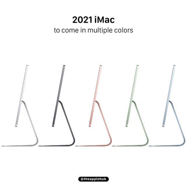 按彭博社(Bloomberg)記者Mark Gurman及外國知名Apple 爆料者Jon Prosser表示,iMac將會以Pro Display XDR作為靈感,採用窄邊框螢幕設計,下方的Apple 標誌將會移除(圖片為慨念圖片)