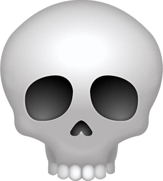 【emoji】「骷髏頭」emoji被Z世代表達為無奈及我快笑死了嘅意思。(圖片來源:Emoji截圖)