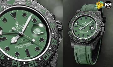 Rolex勞力士超限量GMT-Master II 改裝品牌簡稱DiW打造 綠碳纖維物料霸氣十足