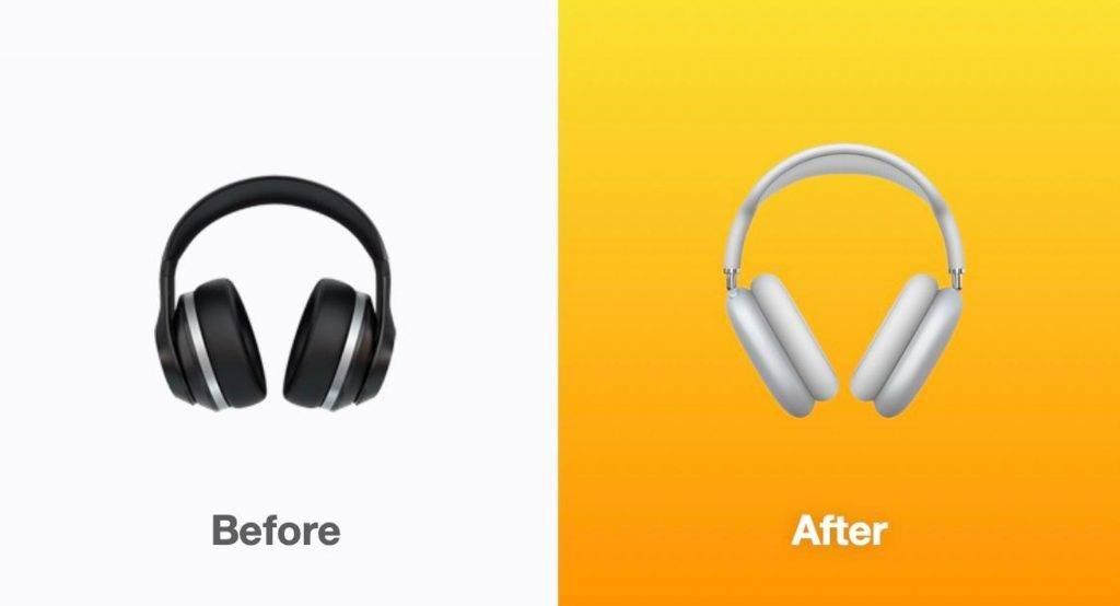 以往大家見到的耳筒Emoji, 今次就轉成為AirPods Max