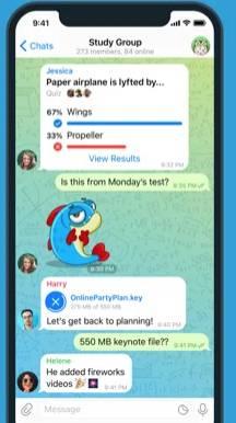 【Telegram】對話隨時被留底。