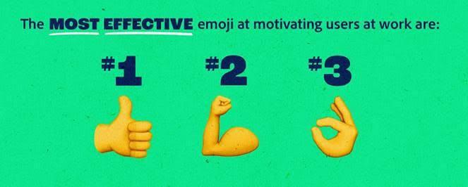 讚、加油及 OK 被選為工作場所最能激勵人們的符號。(圖片來源:Adobe)