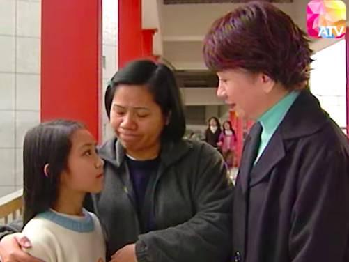 林媽媽在沒有方法下,只好帶女兒去乞錢