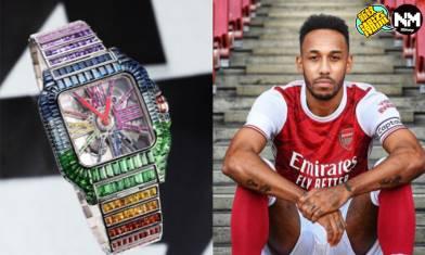 Cartier超浮誇寶石改裝Santos錶款 由英超阿仙奴球星奧巴美揚擁有