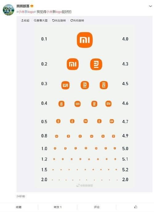 【小米】網友直接將其惡搞變成視力檢測表。