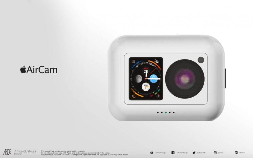 Apple AirCam迷你運動相機概念圖曝光!防水兼擁5K高畫質衝擊GoPro、Insta 360!
