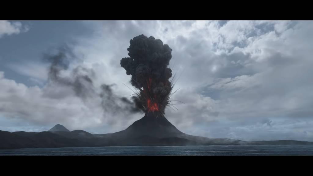 類似是火山爆發的場面